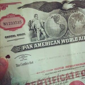 Pan Am Stock Certificate