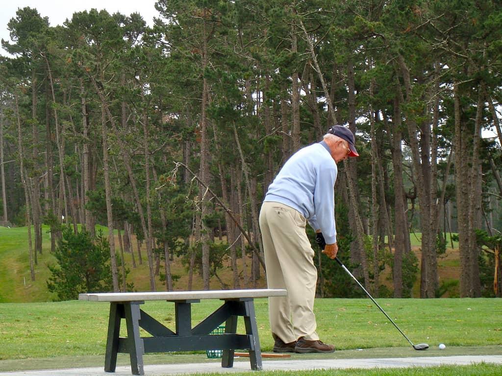 Man Golfing Retired