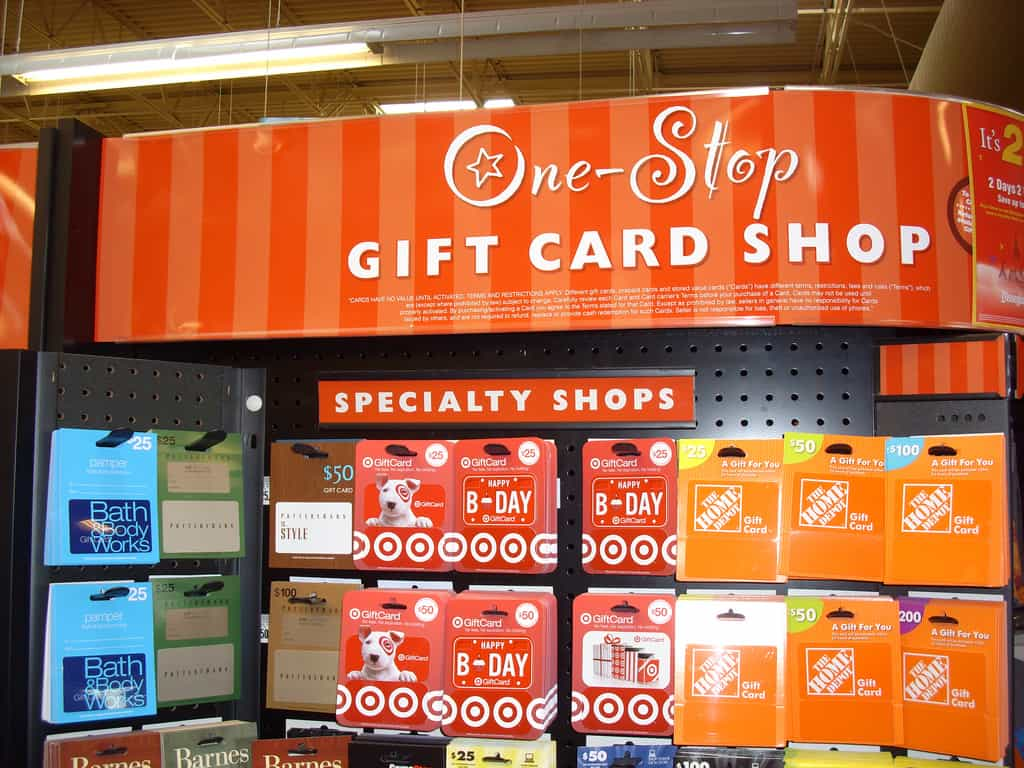 Gift Card Rack