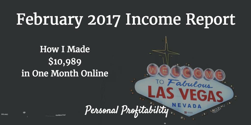 February 2017 Income Report