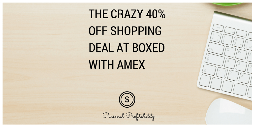 Using a combination of deals from Boxed.com and American Express, I was able to shop for more than 40% off! Deal stacking can lead to huge savings.